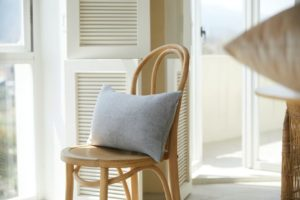How to make wooden chair more comfortable?