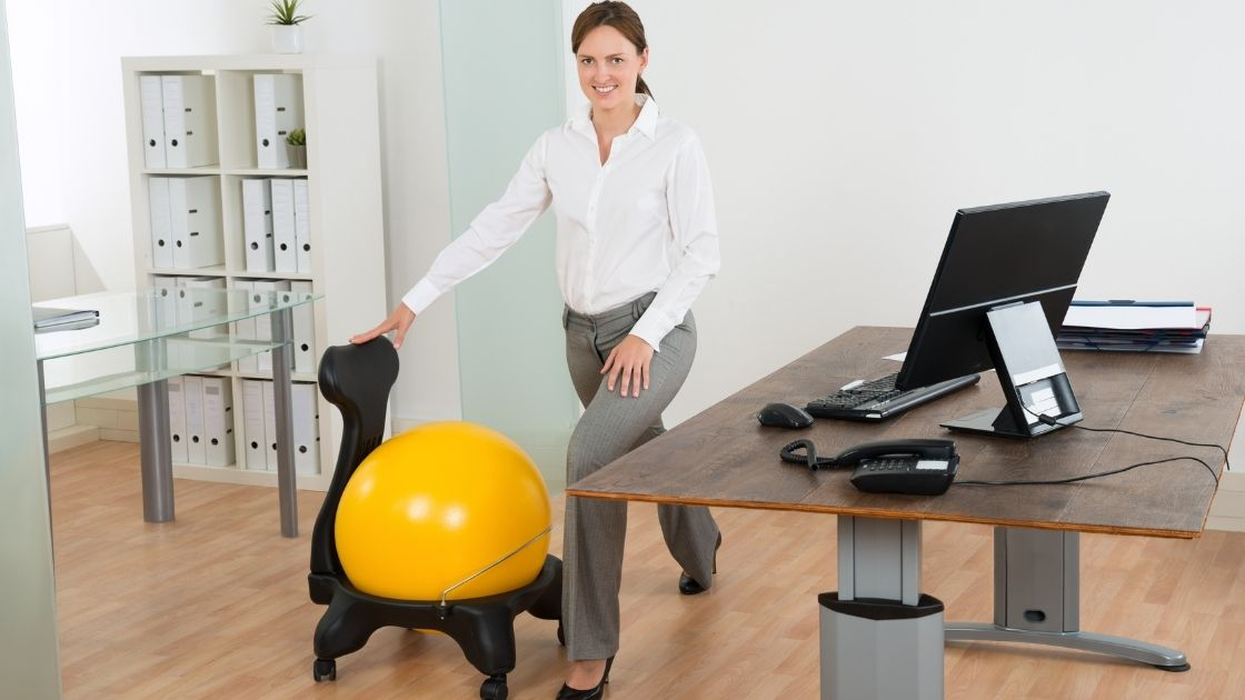 Is using an exercise ball as a chair good what research says