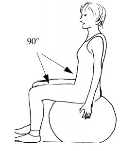 Using Exercise Ball as a chair