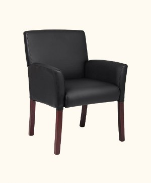 Boss Office Products Box Arm Executive Guest Chair