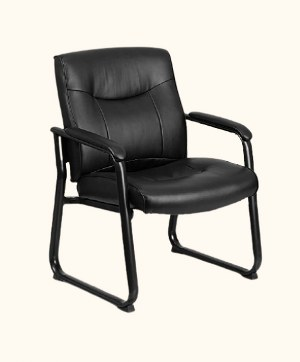 Flash Furniture GO-2136-GG Hercules Series Big & Tall Leather Guest Chair - leather Guest Chair