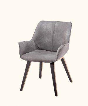 Homy Grigio Modern Leatherette Guest Chair