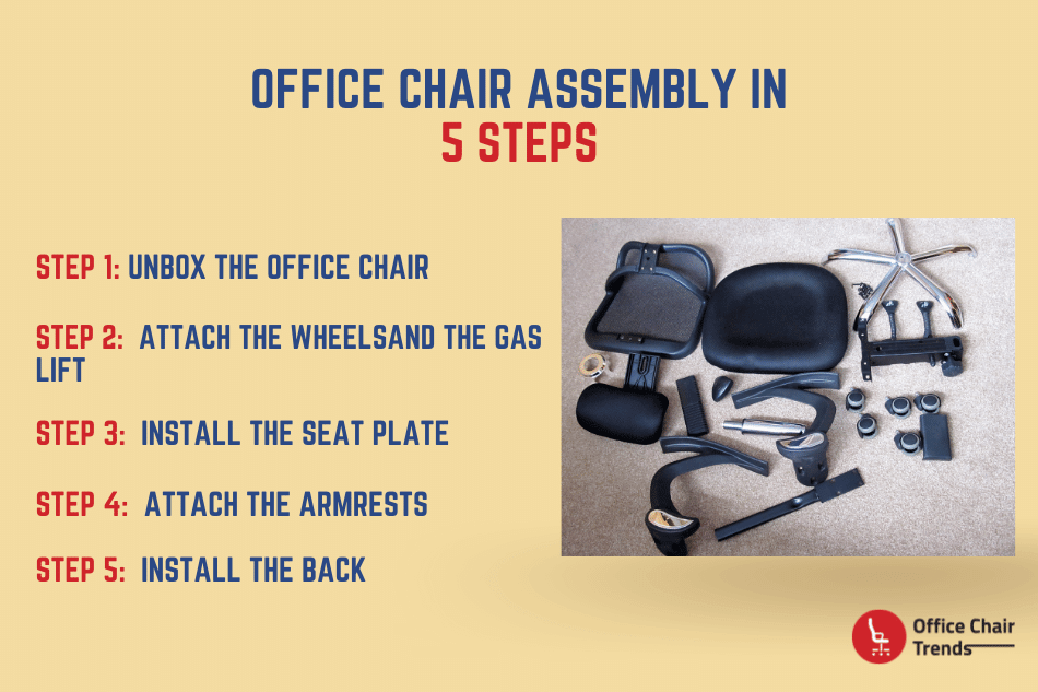 Office Chair Assembly in 5 Steps