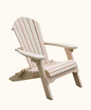 Cypress Wood Adirondack Chair