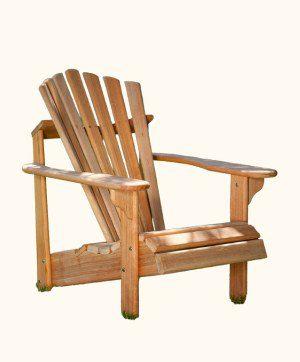 Mahogany Wood Adirondack Chair